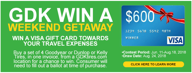 GDK Win a weekend Getaway!