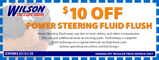 $10 OFF Power Steering System Flush