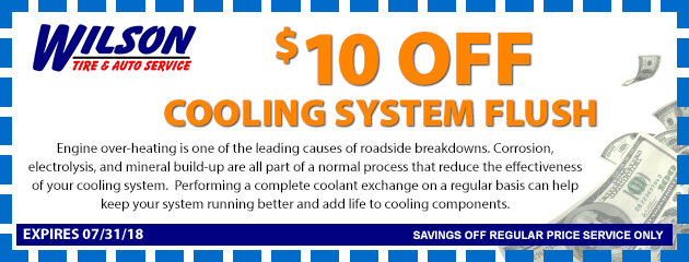 $10 OFF Cooling System Flush
