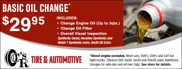 Basic Oil Change - $29.95