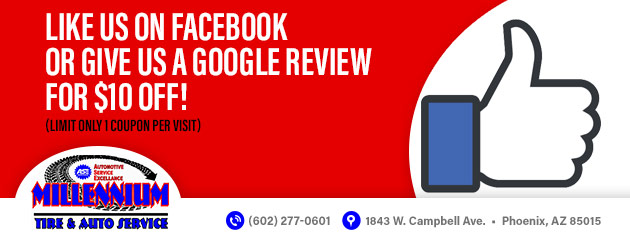 Like us on Facebook or give us a Google review for $10 off!