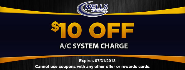 $10 off AC charge