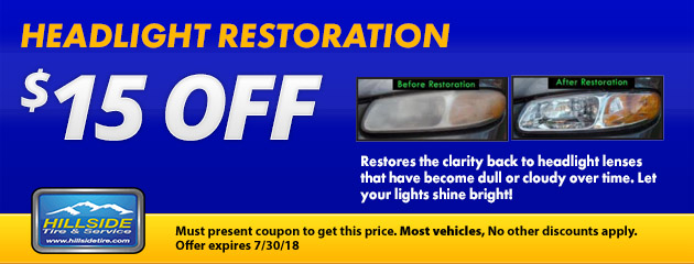 $10 Off Headlight Restoration