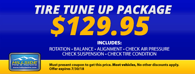 $129.95 Tire Tune Up Package
