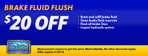 $20 Off Brake Fluid Flush