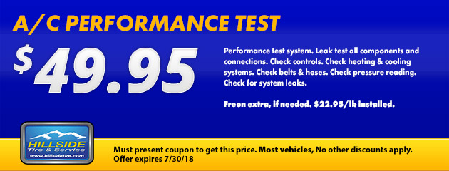 $49.95 A/C Performance Test