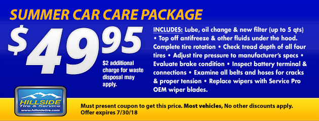 $49.95 Summer Car Care Package