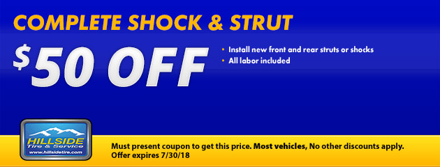 $50 Off Shocks & Struts Special