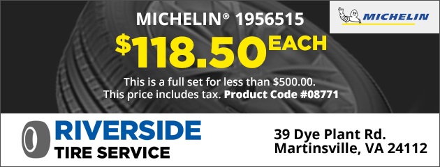 Michelin 1956515, $118.50 Each