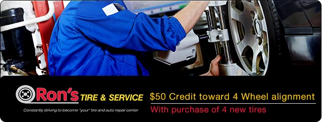 $50 toward 4 wheel alignment