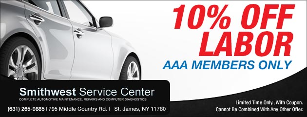 10% off labor for AAA Members