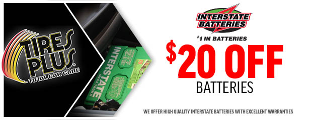 $20 OFF Interstate Batteries