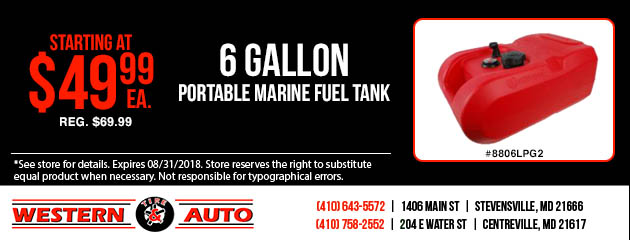 6 Gallon Marine Fuel Tank