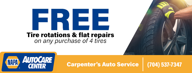 Free Tire rotations and Flat Repair