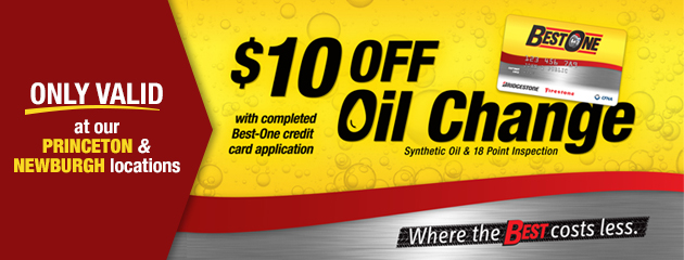 Synthetic Oil Change Special for our Princeton and Newburgh Locations