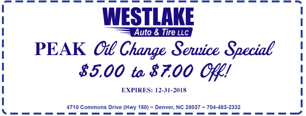 PEAK Oil Change Special