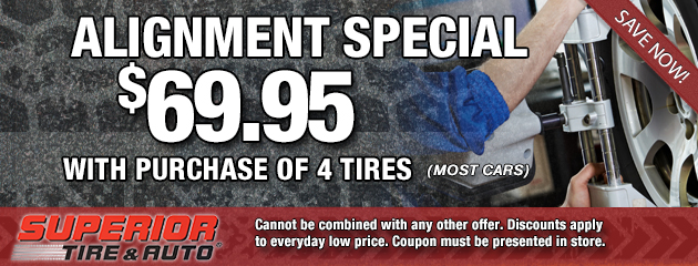 Alignment Special $69.95 with 4 tire purchase