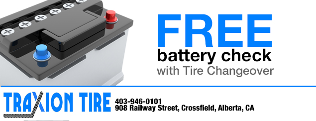 Free Battery Check with Tire Changeover