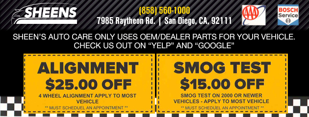 Smog test and Alignment