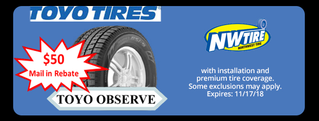 $50 Toyo Observe Mail In Rebate