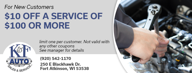 $10 off a service of $100 or more for New Customers