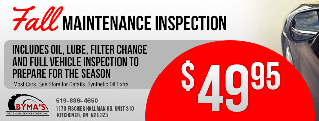 $49.95 Fall Maintenance Inspection