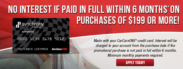 Easy Financing with CarCareONE