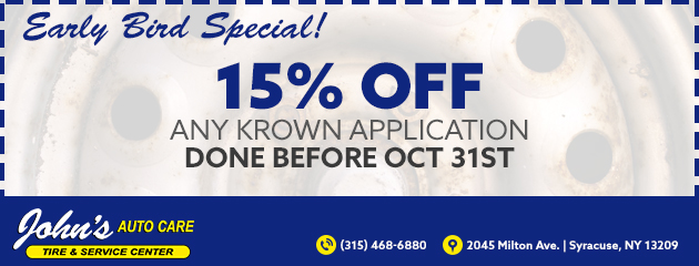 15% off any Krown Application done before October 31st