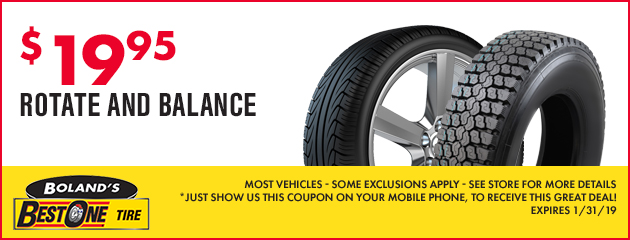 Coupons Savings At Boland S Best One Tire Save On Tires Service