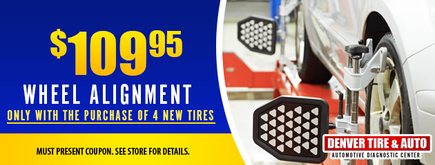 Wheel Alignment with Purchase of 4 new Tires