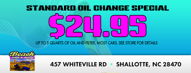 Standard Oil Change Special $24.95