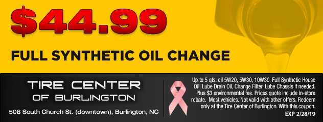 $44.99 Synthetic Oil Change