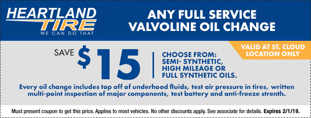 Save $15 on Any Full Service Valvoline Oil Change