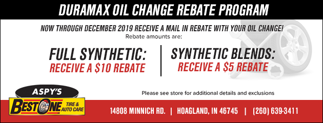 Duramax oil change rebate program