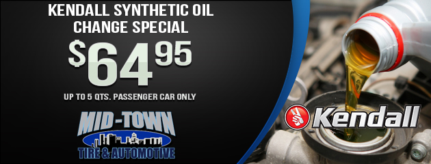 Kendall Synthetic Oil Change Special