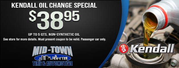 Kendall Oil $38.95 Oil Change