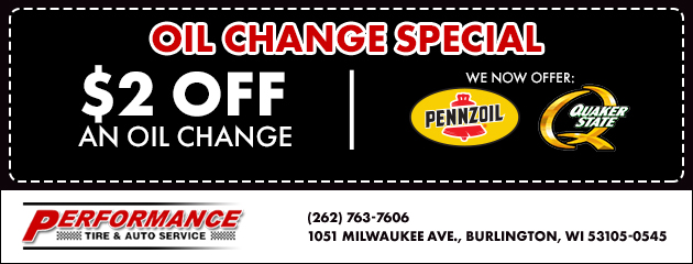 How Much Is An Oil Change At Firestone >> Performance Tire Auto Service Burlington Wi Tires Wheels
