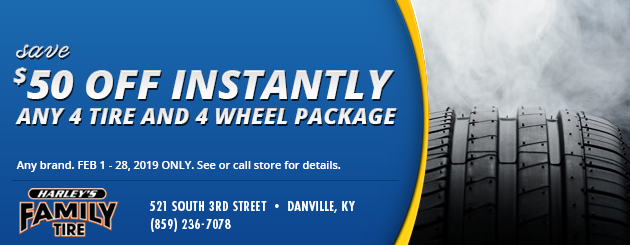 Save $50 Instantly Off any 4 Tire and 4 Wheel Package