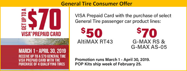 General Tire Consumer Offer