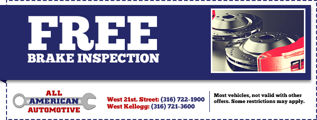 Free Brake Inspection most vehicles