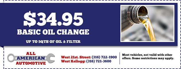 Basic Oil Change $34.95