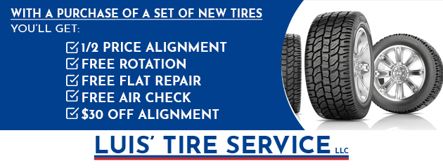 With a purchase of new set of tires