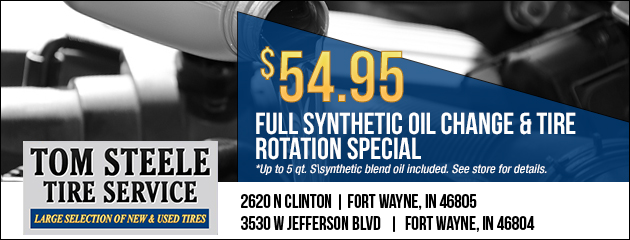 Full Synthetic Oil Change and Tire Rotation Special - $54.95