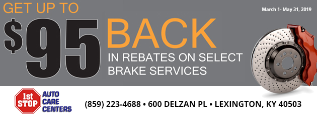 Up to $95 Back in Rebates on Select Brake Services