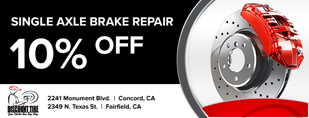 10% off single axle brake repair