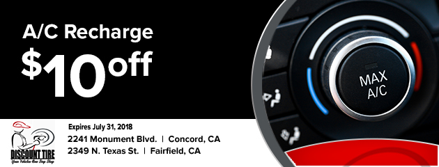 $10 off AC recharge