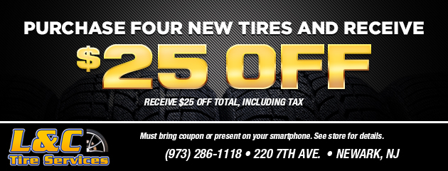 Purchase four new tires and receive $25.00 off