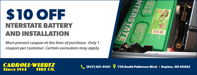 Interstate Battery and Installation $10.00 off