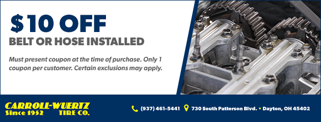 Belt or Hose Installed $10.00 off