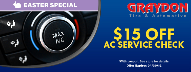 Easter Special: $15 Off any AC Service Check